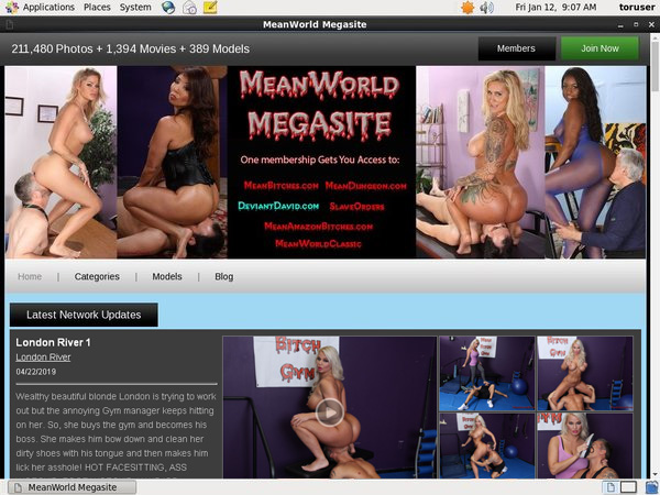 Meanworld.com With Credit Card