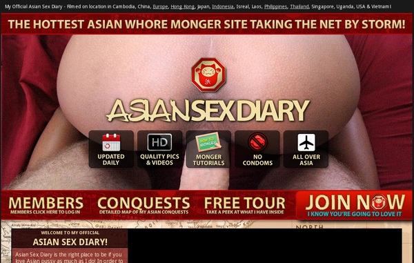 Asiansexdiary.com Stolen Password